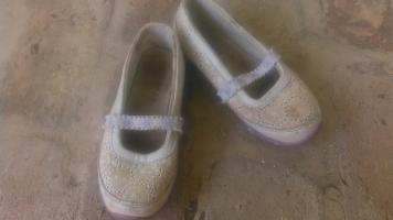 32-es vászon alkalmi lány cipő